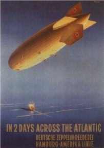 Vintage German poster - In 2 days across the Atlantic (1936)